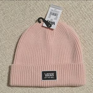 Vans off the wall pink beanie winter hat